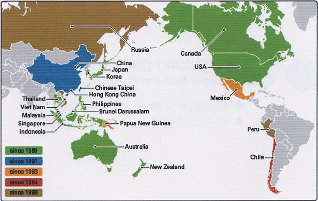 合作夥伴範圍地圖